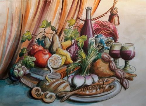 Skiss Mat av Ulrika Wolff